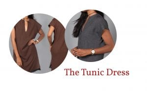 Reversible tunic dress