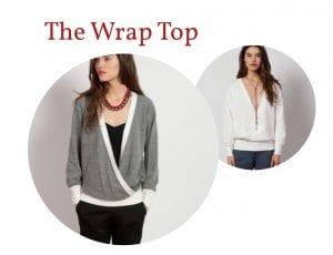 Reversible wrap top