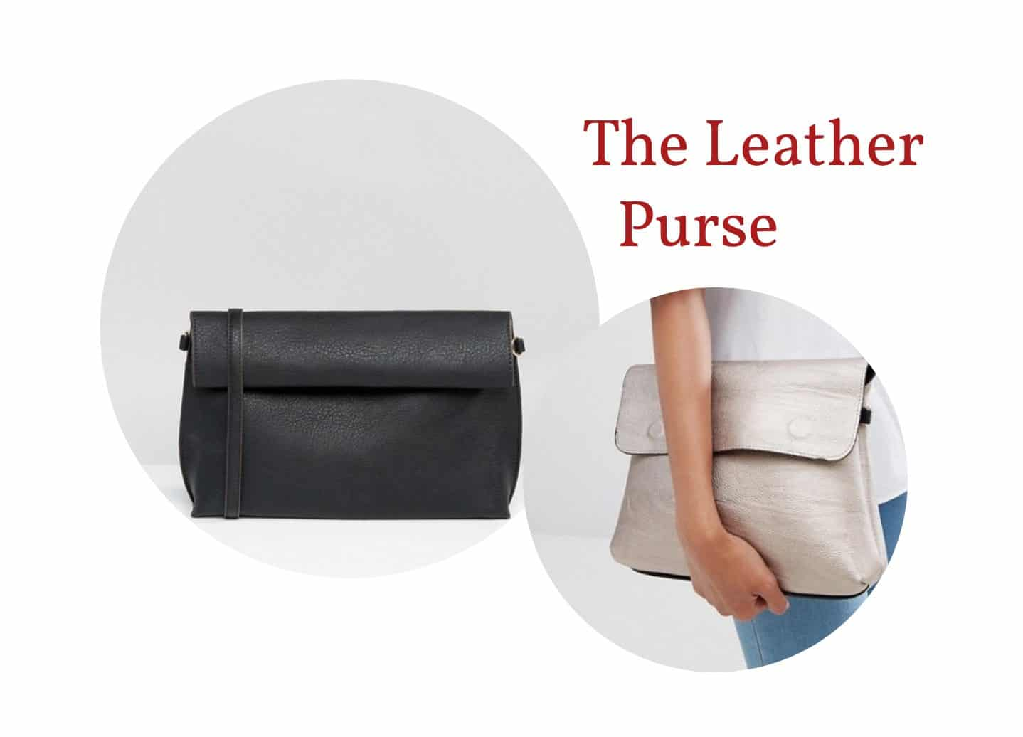 Reversible leather purse