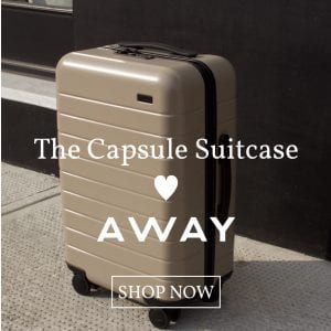 capsule suitcase loves away