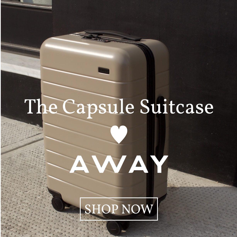 capsule suitcase loves away