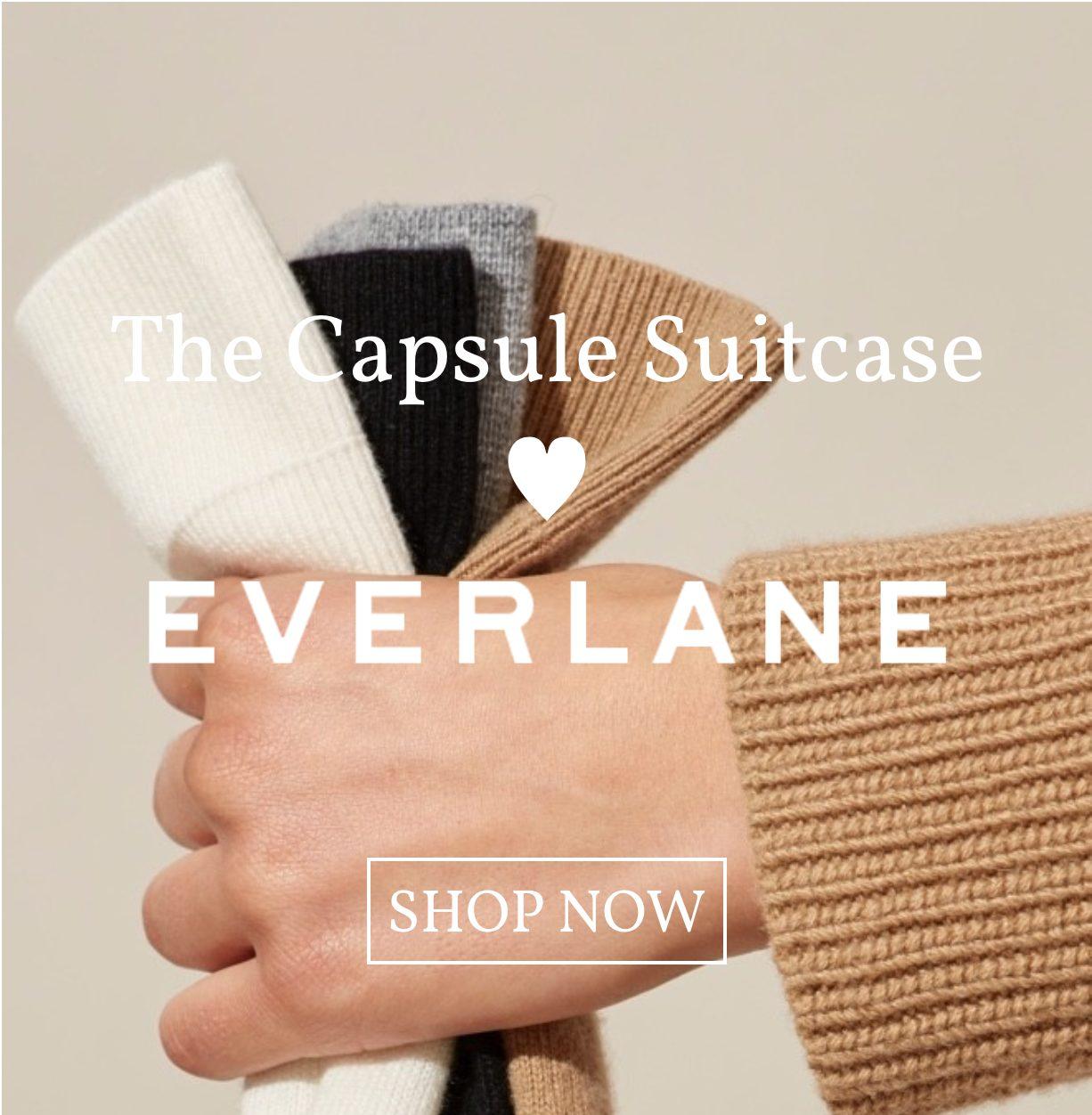 capsule suitcase loves everlane