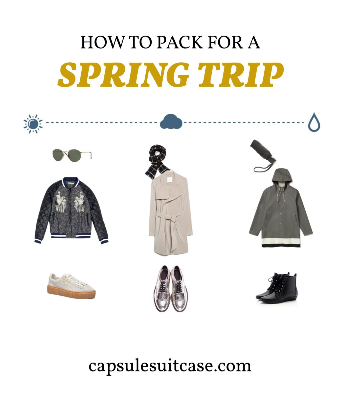 how to pack for a spring trip