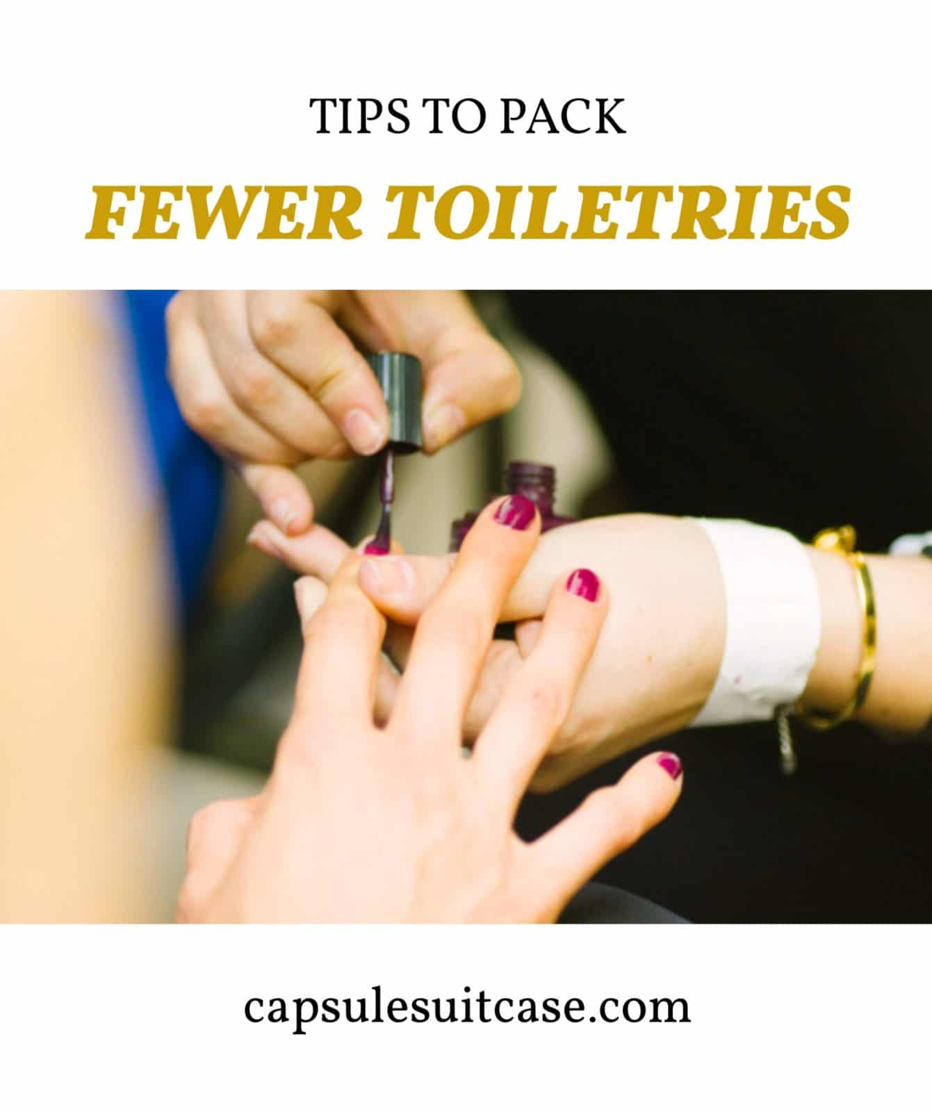 how to pack less beauty stuff