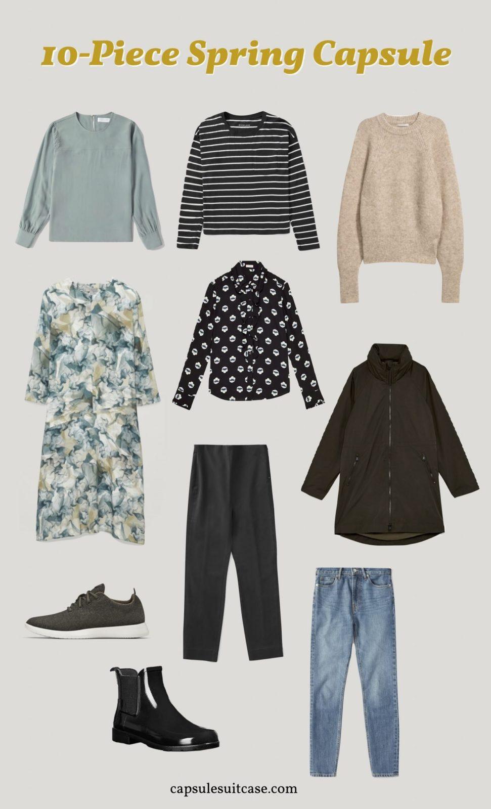 capsule wardrobe spring packing list