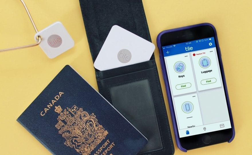 tile app for travel gear