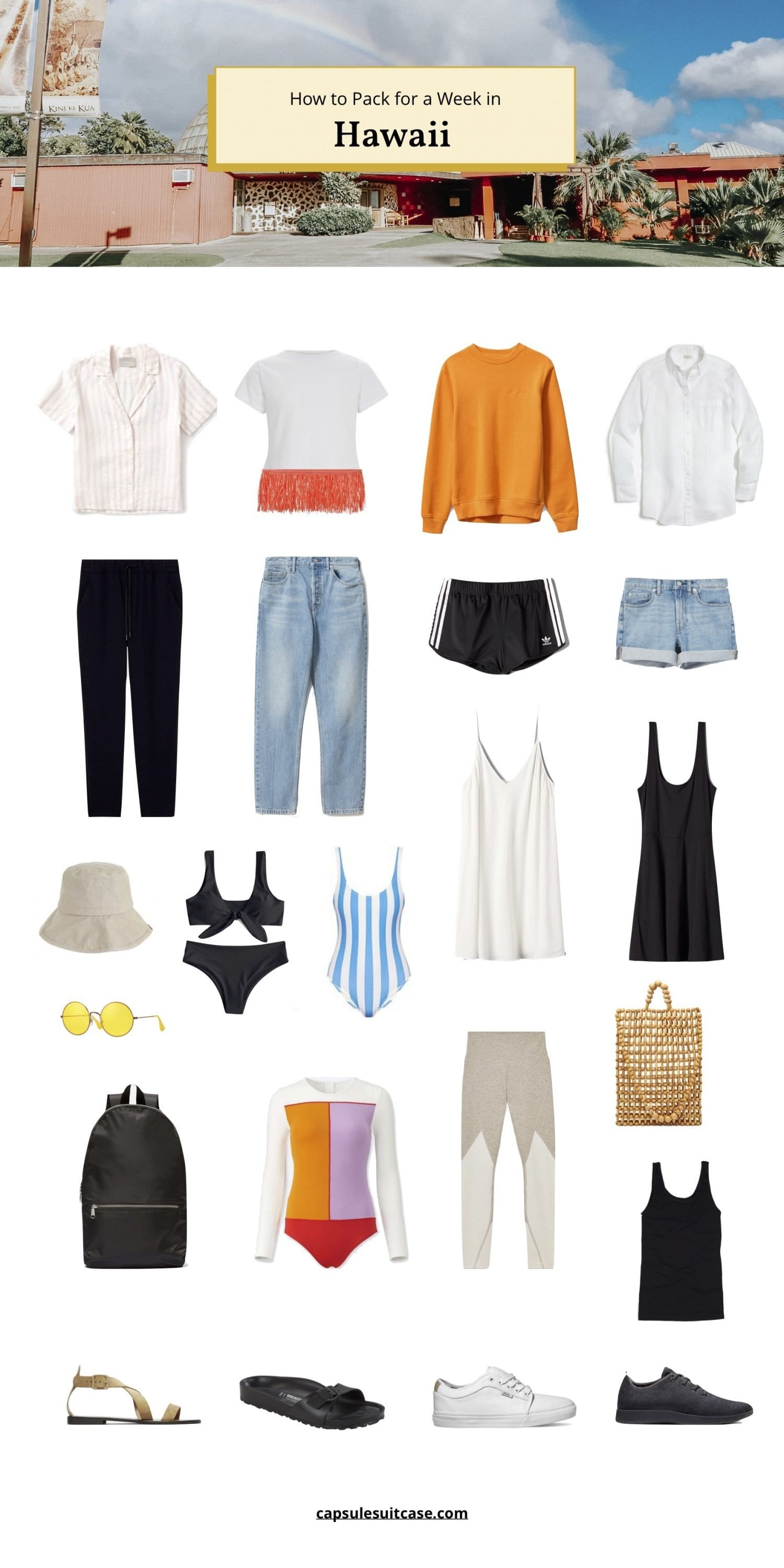 how to pack for Hawaii