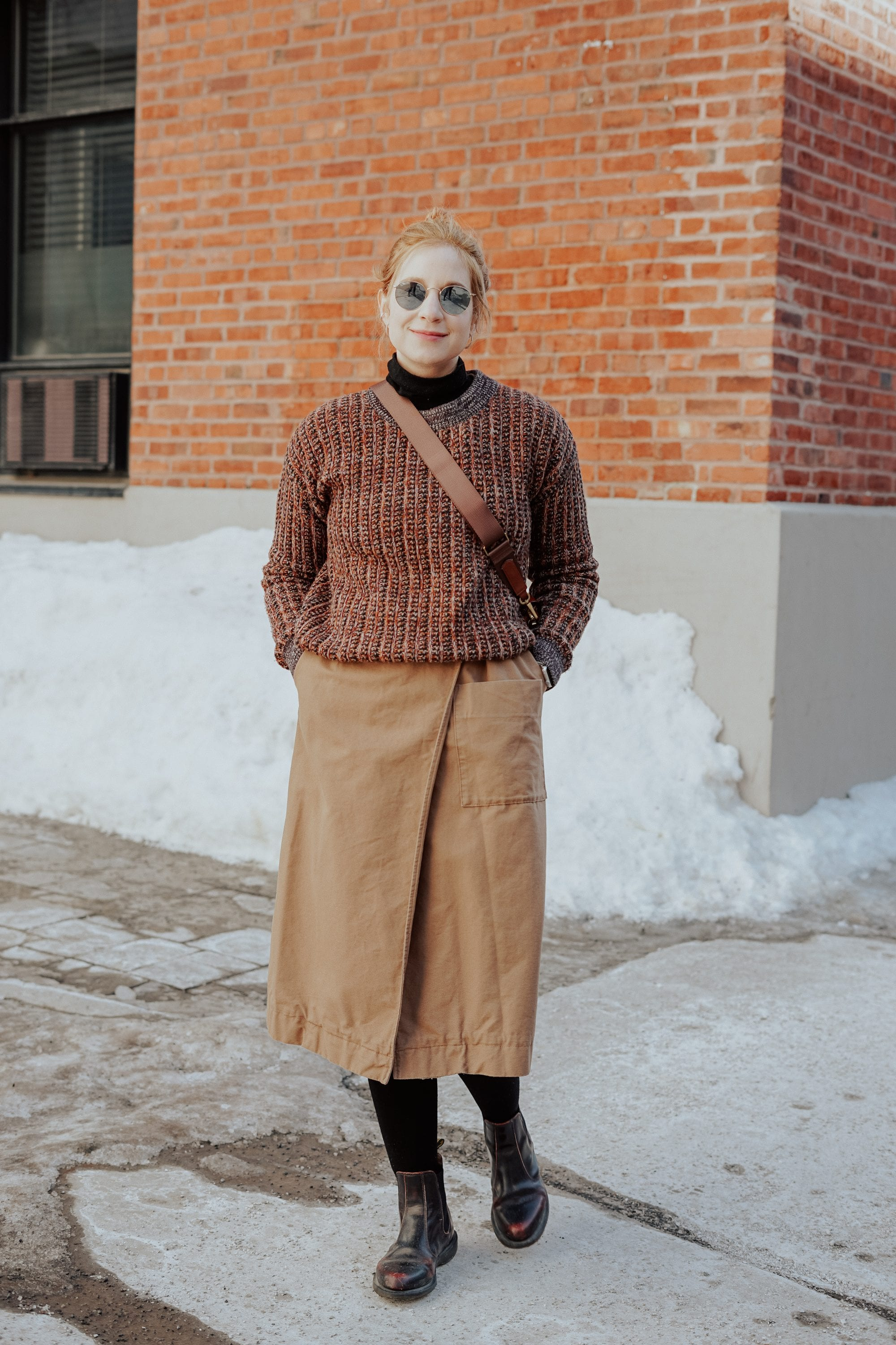 trench as a skirt cos everlane