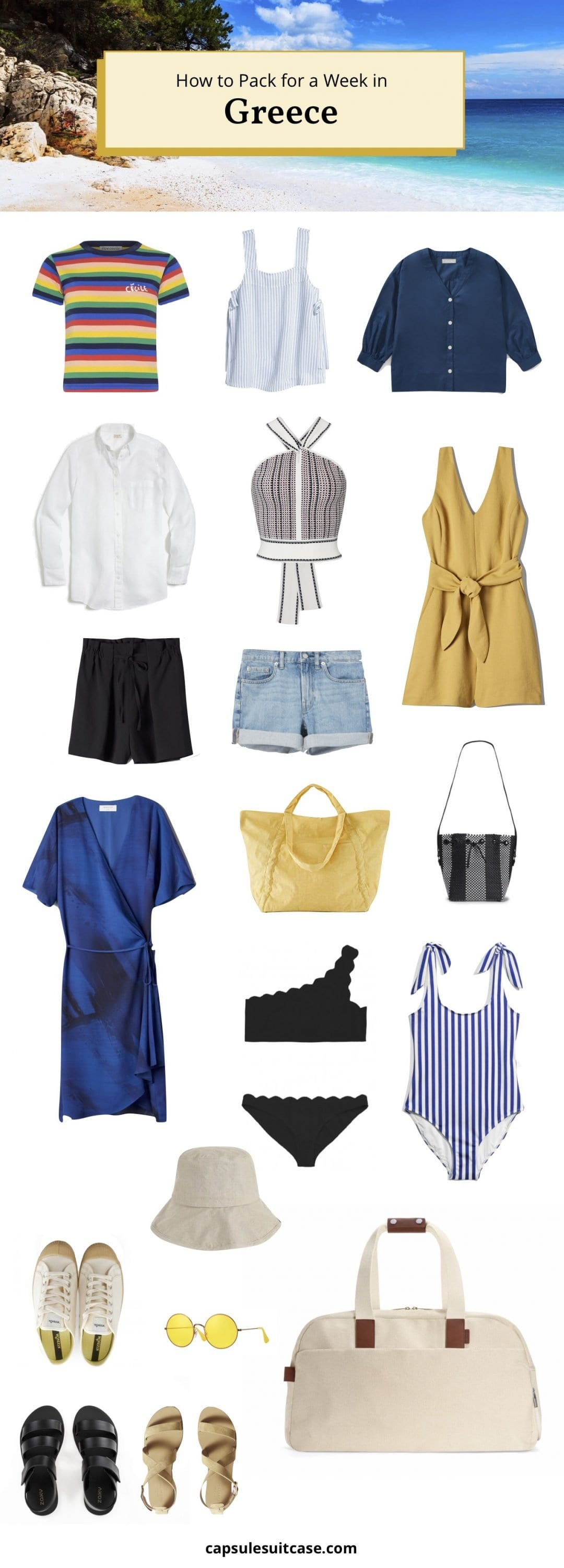 how to pack for greece
