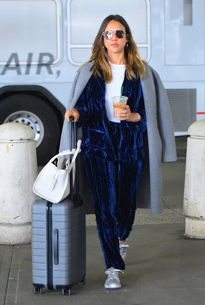 celebrity airport style fashion