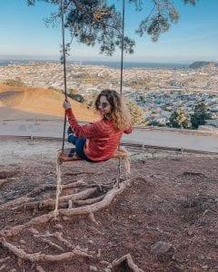 overlooking San Francisco bernal heights
