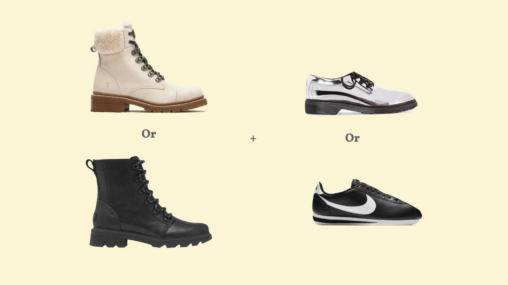 shoes for winter travel