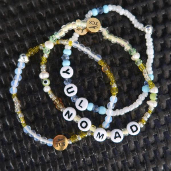 travel-themed bracelet