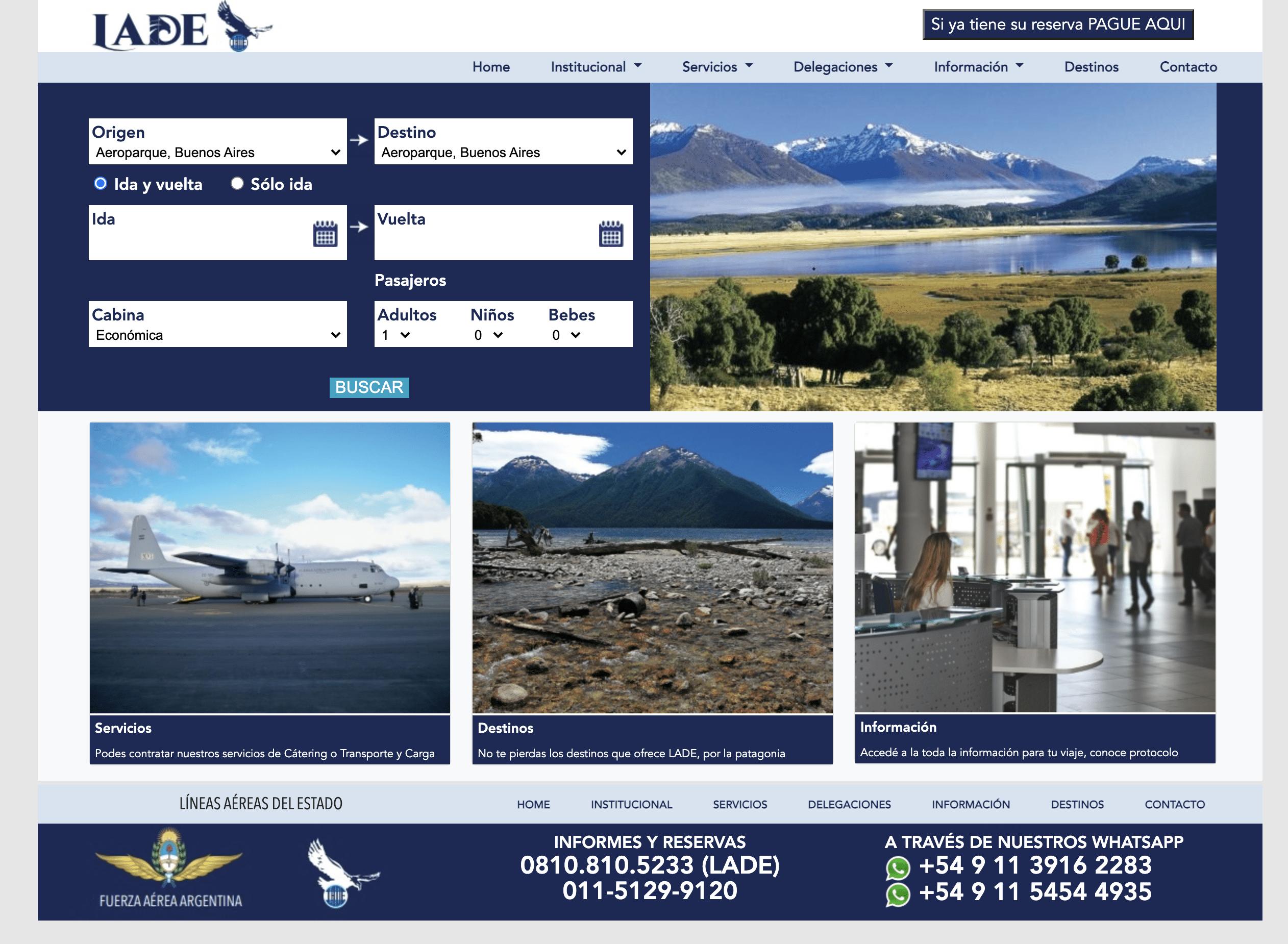 lade airport patagonia
